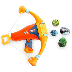 Mighty Blasters Mighty Bow Toy Blaster with 4 Soft Power Pods by Little Tikes