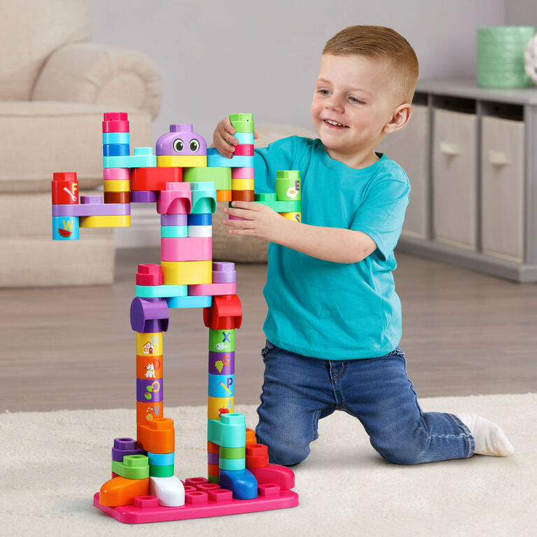 LeapFrog LeapBuilders 81-Piece Jumbo Blocks Box - Pink - Édition anglaise