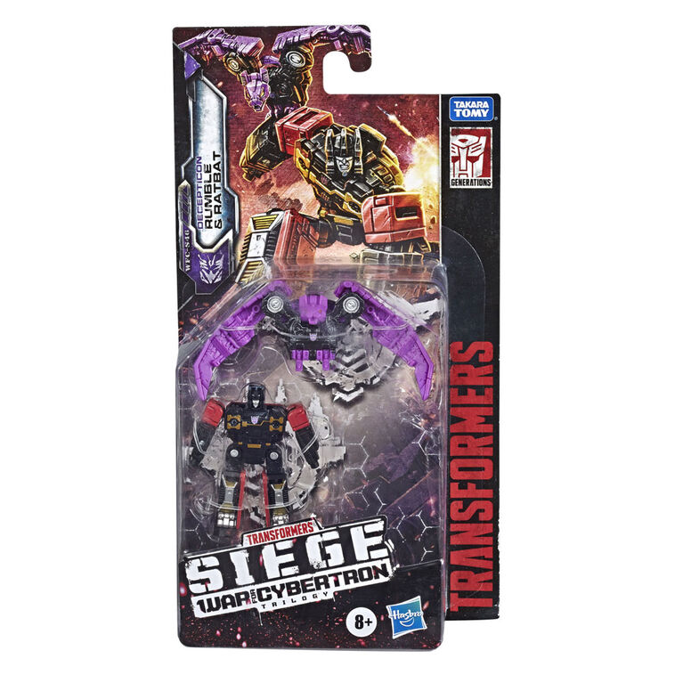 Transformers Toys Generations War for Cybertron: Siege Micromaster WFC-S46 Soundwave Spy Patrol (2nd Unit) 2-Pack