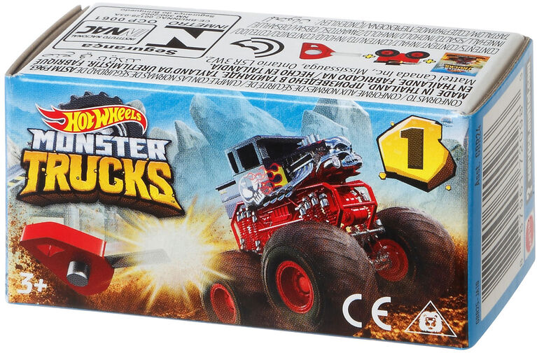 Hot Wheels - Monster Trucks - Mini - Les styles peuvent varier - Édition anglaise.