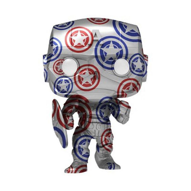 Funko POP! Artist Series: Marvel Patriotic Age - Captain America - R Exclusive