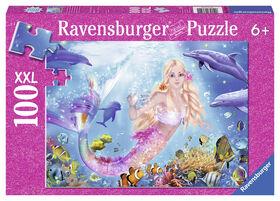 Mermaid & Dophins - Glitter Puzzle