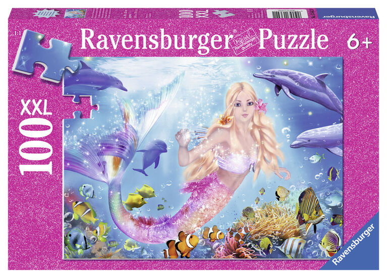 Mermaid & Dophins - Glitter Puzzle