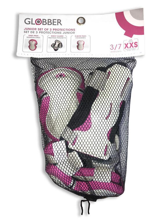 Globber Set de 3 Protections Junior - Rose XXS