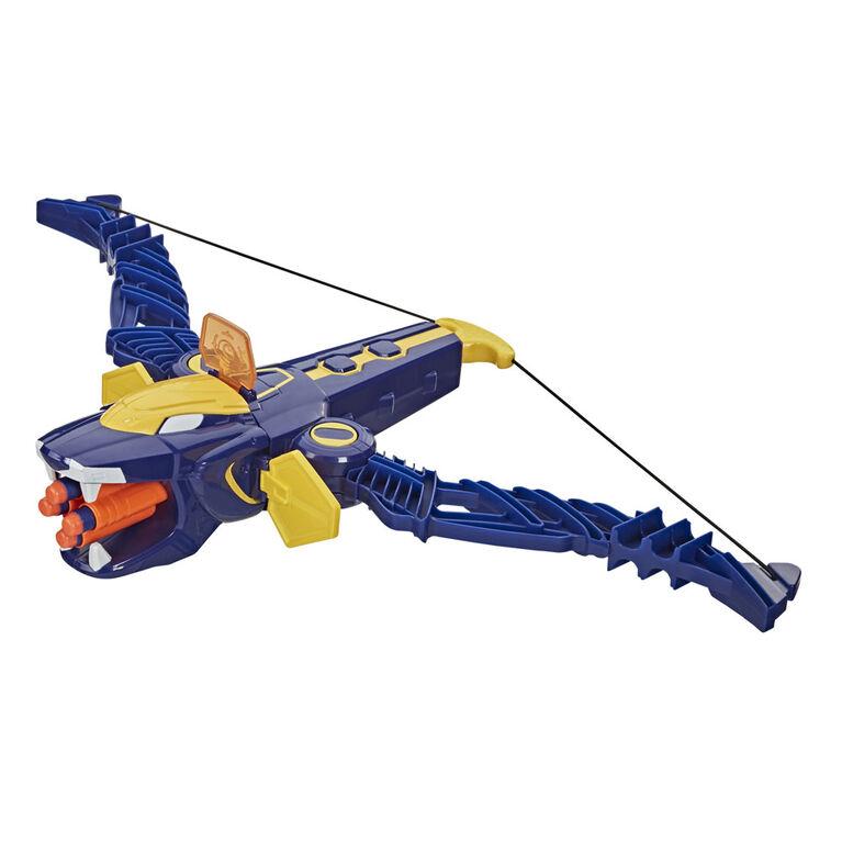 Power Rangers - Beast Morphers Beast-X King Mega Bow Toy, Nerf Dart Firing Action - R Exclusive