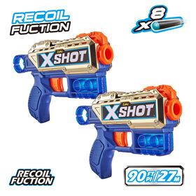 X-Shot Excel Double Kickback Royale Edition Foam Dart Blaster Combo Pack (8 Darts) by ZURU