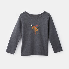 little styler long sleeve graphic tee, size 2-3y - Grey