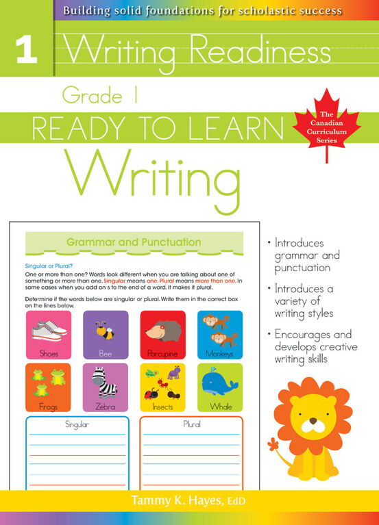 Grade 1 - Ready To Learn Writing - English Edition