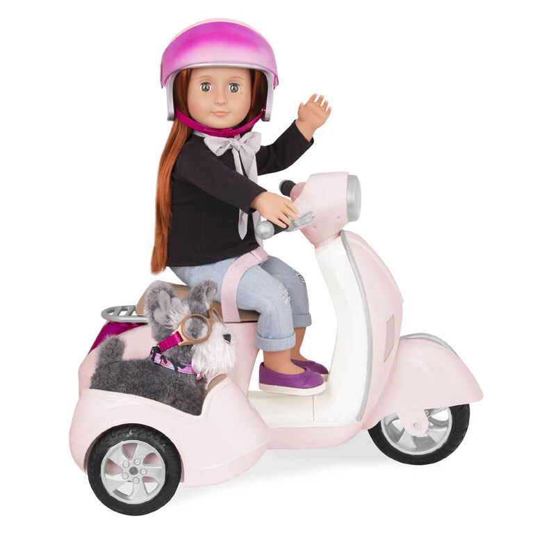 Our Generation, OG Ride Along Scooter with Side Car for 18-inch Dolls