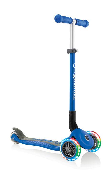 Primo Foldable Light-Up Scooter - Navy Blue