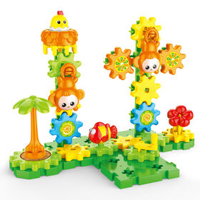 Toy Chef Little Gears 48-Piece Forest Themed Educational Construction Play Kit