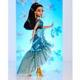 Disney Princess Style Series Jasmine Fashion Doll, Contemporary Style Dress, Earrings, Purse, and Shoes, Toy for Girls