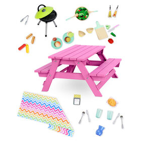 Our Generation, Picnic Table Set for 18-inch Dolls