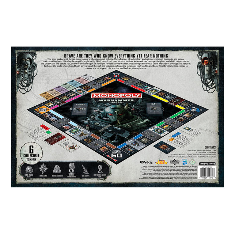 MONOPOLY: Warhammer 40k Board Game - English Edition