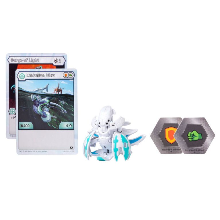 Bakugan Ultra Ball Pack, Haos Krakelios, 3-inch Tall Collectible Transforming Creature