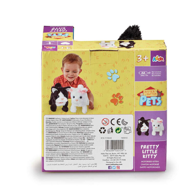 Pitter Patter Pets - Pretty Little Kitty Black and White