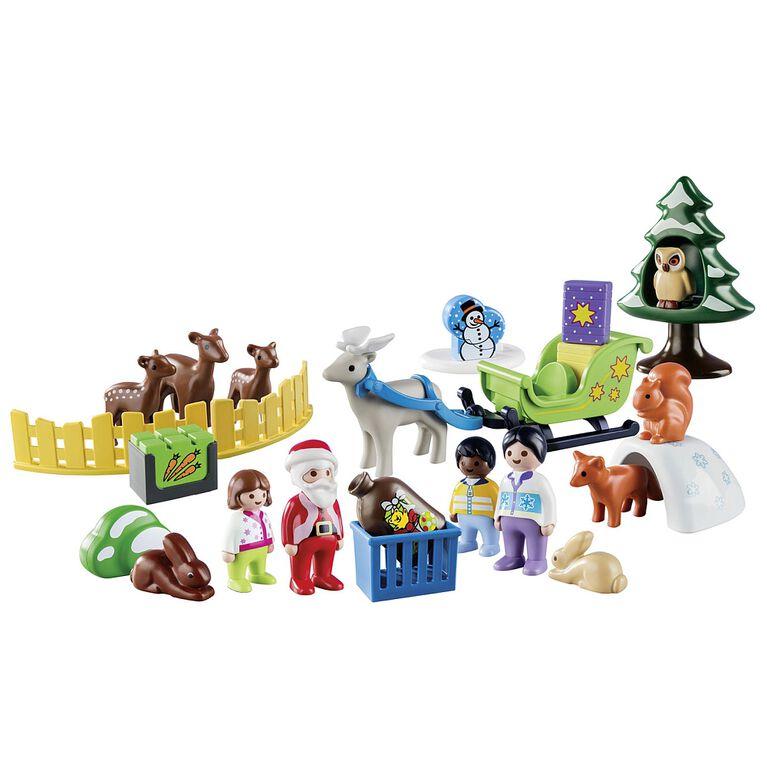 Playmobil - Calendrier de l'Avent 123 Père Noël et animaux de la forêt