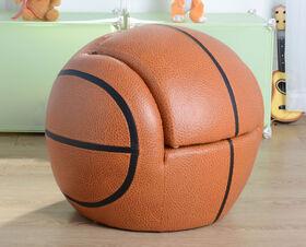 Chaise de basketball marron avec repose-pieds