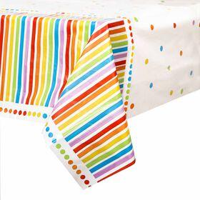 """Rainbow Birthday Table Cover 54""""x84"""""""