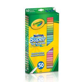 Paquet de 50 marqueurs lavables avec de super pointes de Crayola