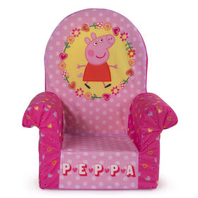 Marshmallow Furniture Children's Upholstered High Back Chair - Peppa Pig