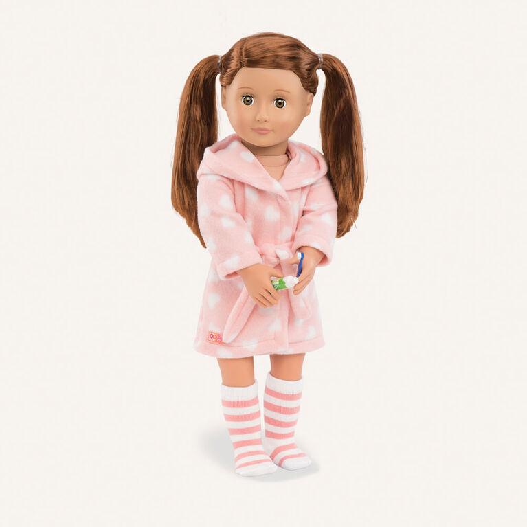 Good Night, Sleep Tight, Our Generation, Peignoir rose pour poupées de 18po
