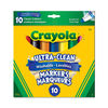 Crayola - 10 ct marqueurs à trait large lavables ultra-clean