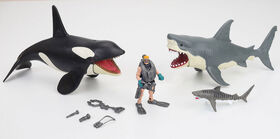 Animal Planet - Mega Shark and Orca Playset - R Exclusive