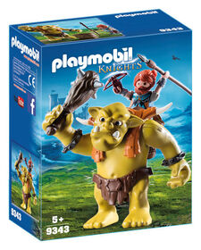 Playmobil - Giant Troll with Dwarf Fighter