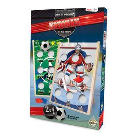 Bean toss Hockey Soccer Game