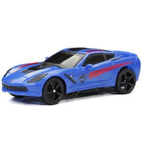 New Bright 1:24 R/C Full-Function Sport Car, Corvette, Stingray (Blue)
