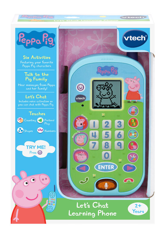 Vtech Peppa Pig Let S Chat Learning Phone édition Anglaise