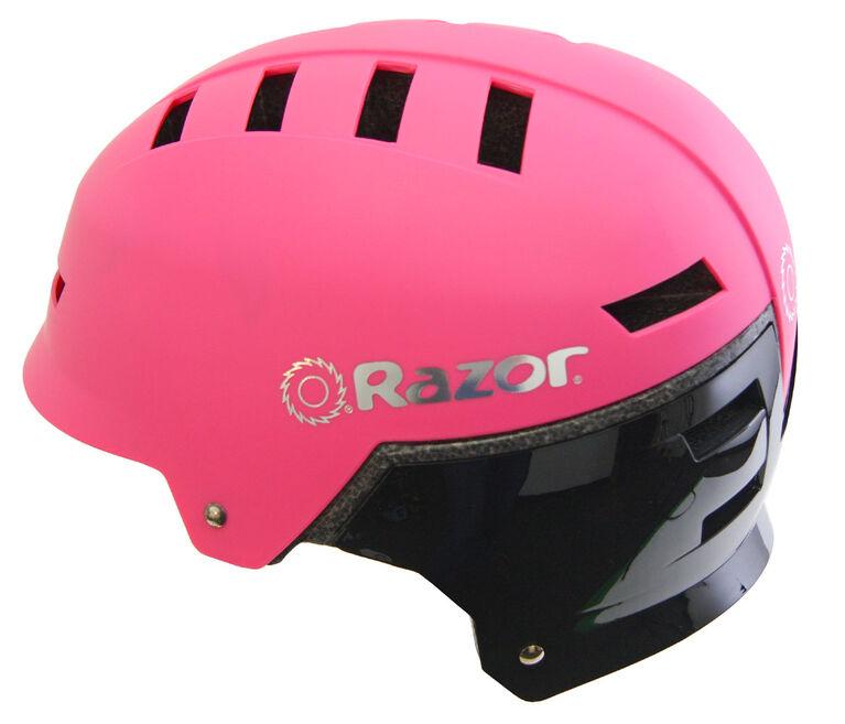 Casque de Vélo Razor - Pour Jeunes 8+ Rose/Noir