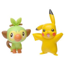 Pokémon Battle Figure Pack - Pikachu and Grookey, 2-pack - English Edition