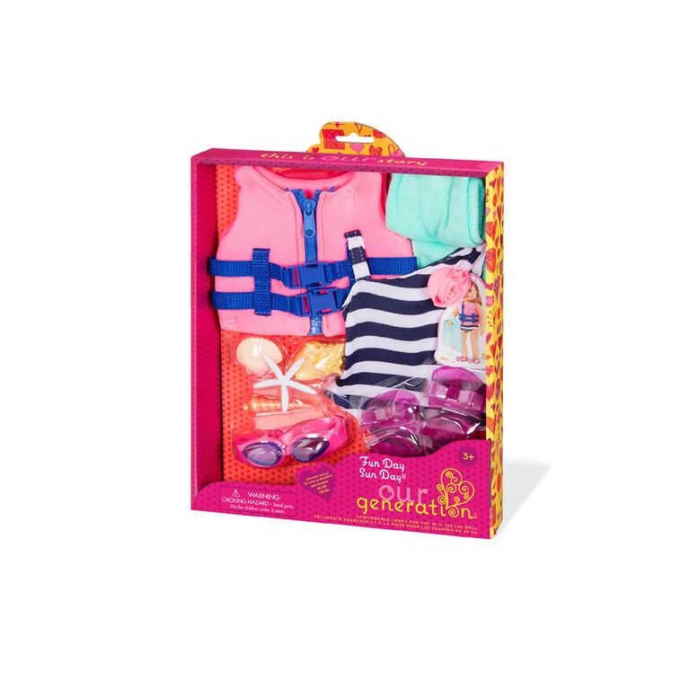 Fun Day Sun Day, Our Generation, Tenue de plage pour poupées de 18po