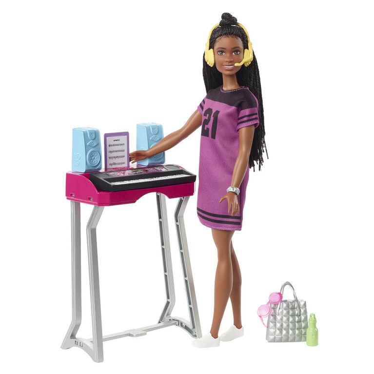 "Barbie: Big City, Big Dreams Barbie ""Brooklyn"" Doll and Music Studio Playset"