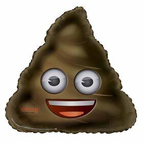 """Poop Emoji Giant Shaped Foil 32"""""""