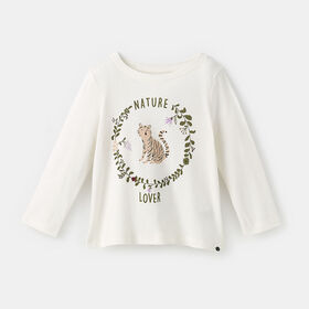 little styler long sleeve graphic tee, size 5-6y - White