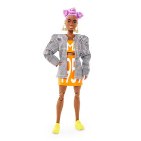 Barbie BMR1959 Poseable Doll in Matching Logo Top & Skirt with Blazer