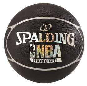 NBA Highlight Hologram Basketball Black/Silver