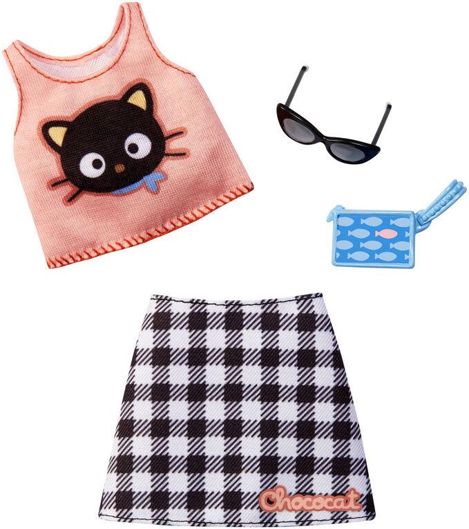 Barbie Hello Kitty Choco Cat Skirt & Top Fashion Pack