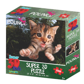 Pounce - Fuzzbucket 150 Piece Super 3D Puzzle