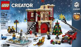 LEGO La caserne de pompiers du village d'hiver 10263