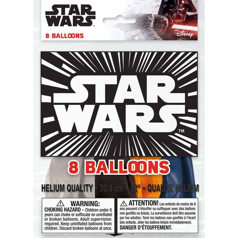 """Star Wars 12"""" Ballons, 8un"""