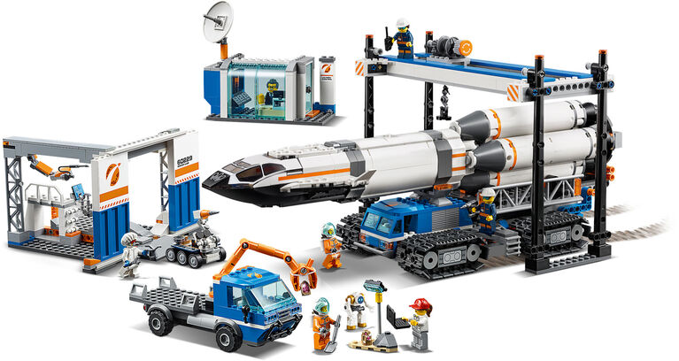 LEGO City Space Port Rocket Assembly & Transport 60229