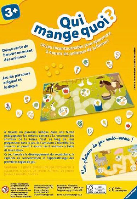 Ravensburger! Who Eats What? Game - French Edition