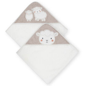Koala Baby 2-Pack Woven Hooded Towel, Little Lamb