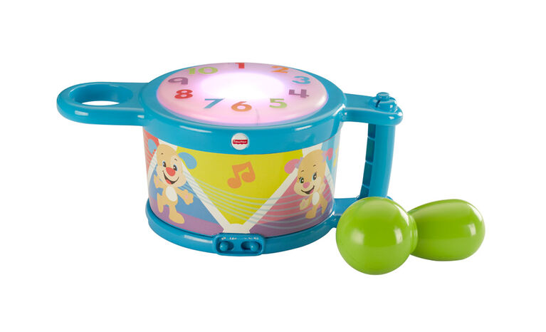 Fisher-Price Laugh & Learn Tap & Teach Drum - English Edition
