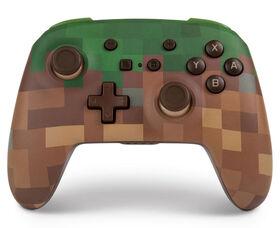 Nintendo Switch Enhanced Wireless Controller Minecraft Grass