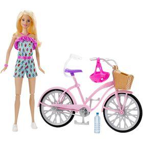 Barbie Doll and Bike Set - Blonde